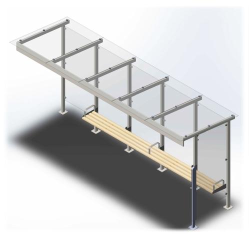 Остановочный павильон длиной 5,9 метра (1111)