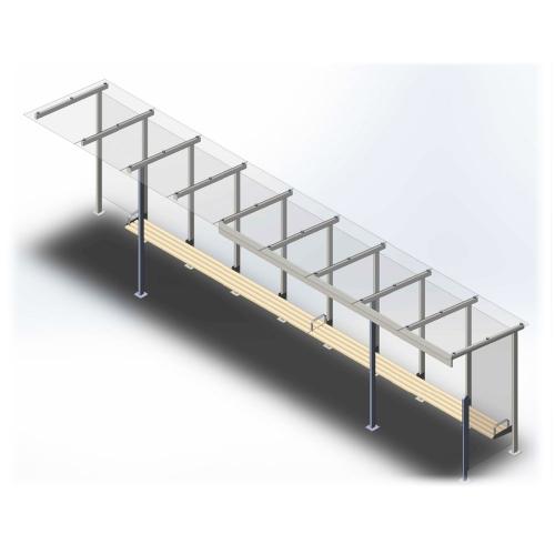 Остановочный павильон длиной 10,4 метра